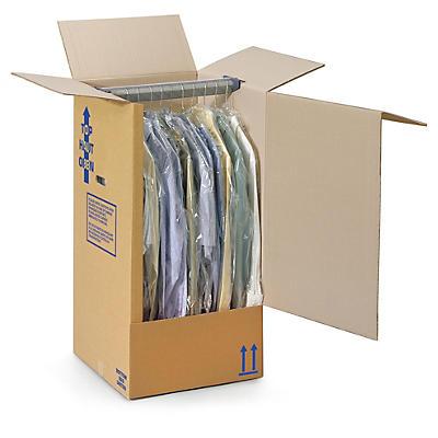 Caisse penderie économique en carton##Kleiderbox
