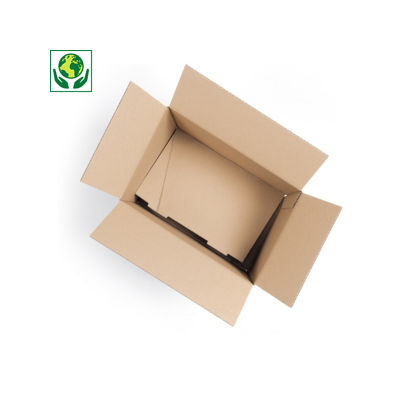 Caisse simple cannelure à fond automatique Raja##Enkelgolfdoos met automatische bodem Raja