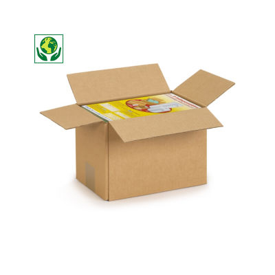 Caisse simple cannelure Rajabox format A6