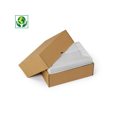Caisse télescopique renforcée format A4/A4+##Verstevigde A4 dekseldoos met variabele vulhoogte, bruin of wit enkelgolfkarton