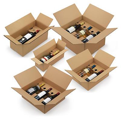 Caisses avec calage carton à montage instantané##Flaschenverpackungen mit selbst aufrichtender Kartoneinlage