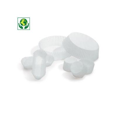 Caissette pâtisserie en papier plissé blanche
