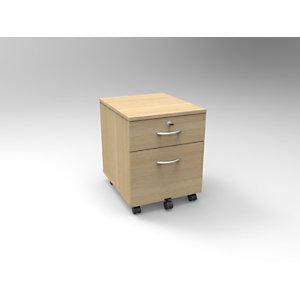 Caisson mobile Bois Starting 2 - Chêne clair, 2 tiroirs