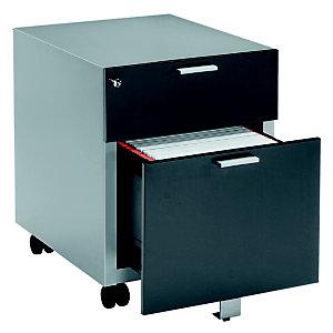 Caisson mobile Casting - 2 tiroirs -  Aluminium - façade Anthracite