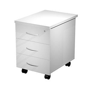 Caisson mobile mélaminé Wood 3 tiroirs Blanc