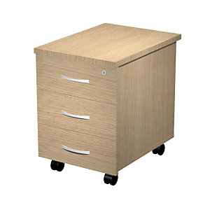Caisson mobile mélaminé Wood 3 tiroirs - Chêne