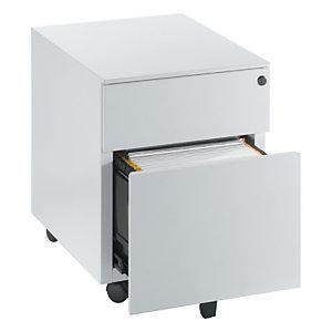 Caisson mobile Universal - 2 tiroirs - Aluminium