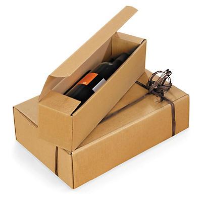 Caixa apresentação para garrafas em cartão microcanelado