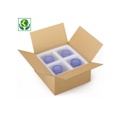 Caixa de cartão de base quadrada canelado fino RAJABOX