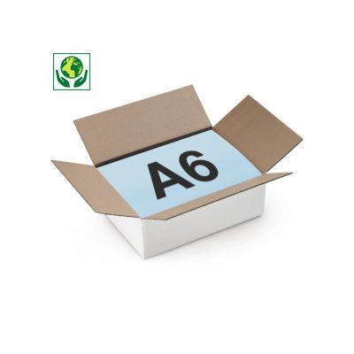 Caixa de cartão plana canelado fino branca