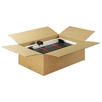 Caixa de cartão plana canelado fino castanha
