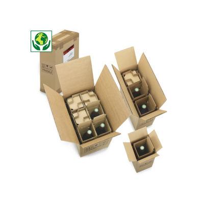 Caixa para envio de garrafas com proteção integrada