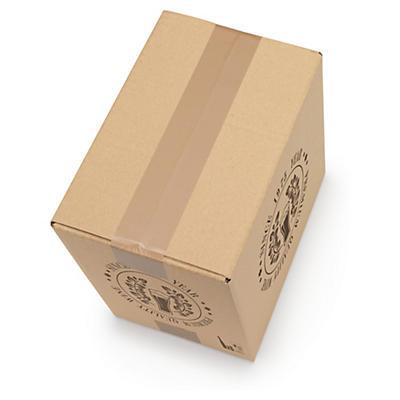 Caixa para garrafas de 33 cl com proteção interior personalizada