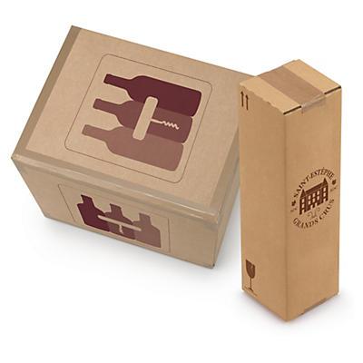 Caixa para garrafas de 75 cl com proteção interior personalizada