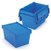 Caixa de plástico encaixável com tampa