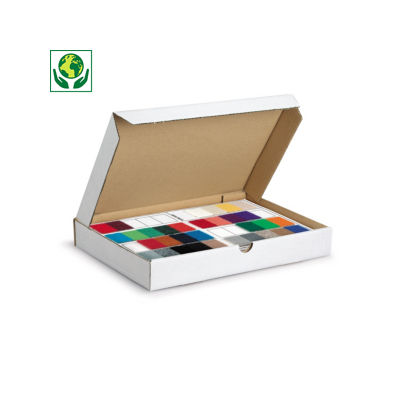 Caixa postal branca para produtos planos formato A5