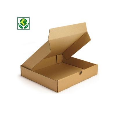 Caixa postal castanha para produtos planos formato A4