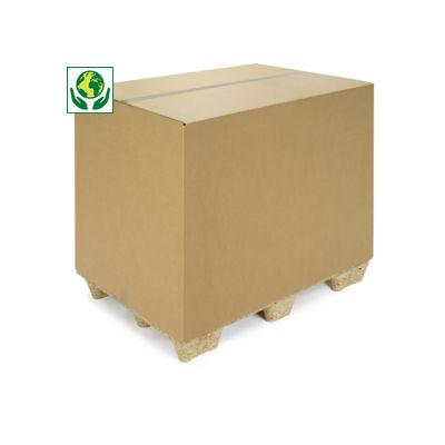 Caja americana canal doble tamaño contenedor