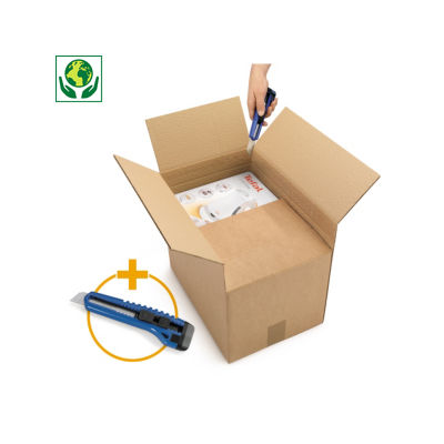 Caja de cartón de altura variable canal simple