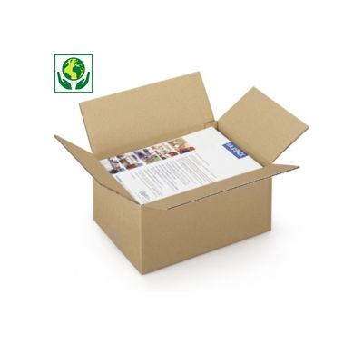 Caja de cartón canal simple de 30 a 40 cm de largo RAJA®