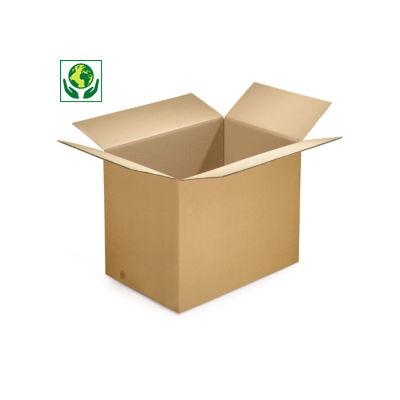 Caja de cartón cúbica canal doble marrón RAJABOX