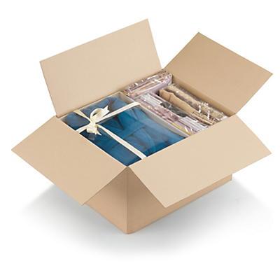 Caja de cartón montaje instantáneo canal simple