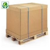Caja contenedor de cartón modulable