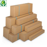 Caja larga de cartón canal simple gran apertura RAJA®
