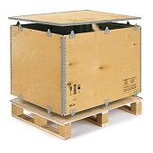 Caja-palet de madera contrachapada