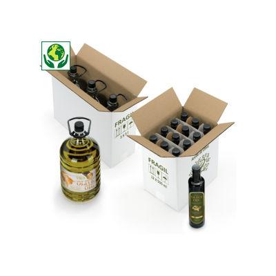 Caja para aceite de oliva con impresión FRÁGIL
