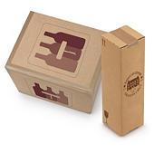 Caja para botellas de 75 cl con protección interior personalizada