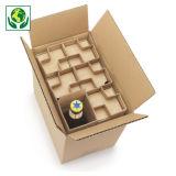 Caja para envío de botellas de 33 cl con protección interior