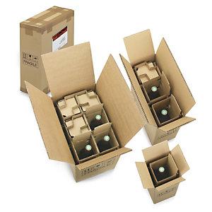 Caja para envío de botellas con protección interior