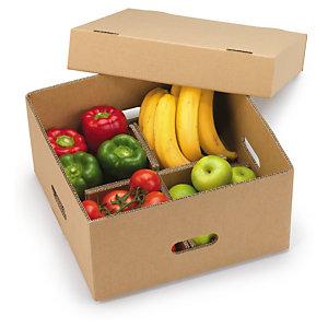 caja para expedicin de frutas y verduras con tapa y separadores - Cajas De Frutas