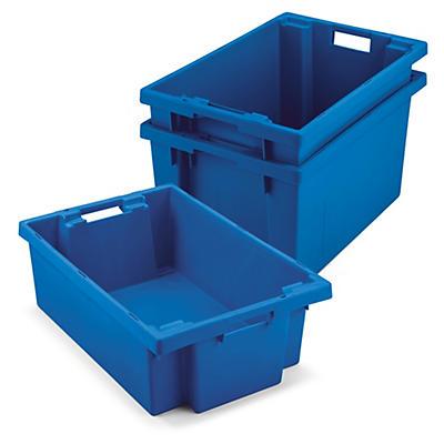 Caja de plástico apilable y encajable