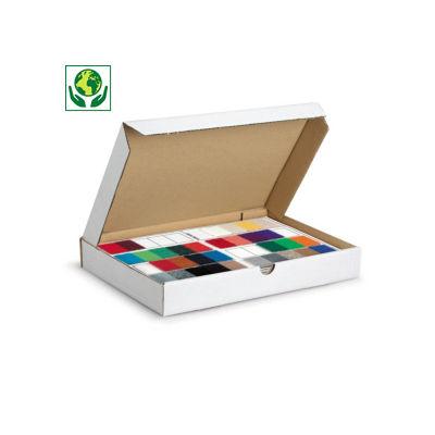 Caja postal blanca para productos planos formato A4