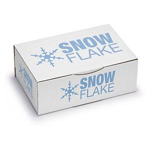 Caja postal blanca personalizada 1 color