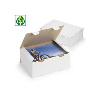 Caja postal en cartón blanco RAJAPOST formato A7 y A5