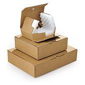 Caja postal marrón con relleno de espuma RAJAPACK'MOUSSE
