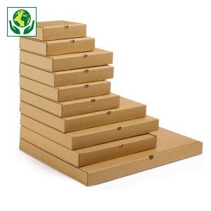 Caja postal marrón para productos planos