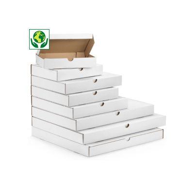 Caja postal plana blanca