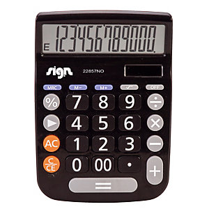 Calculatrice de bureau  Sign 22857NO coloris noir