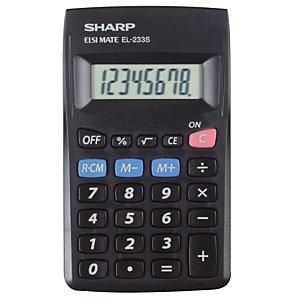 Calculatrice de poche  Sharp EL 233SBBK