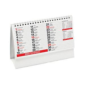 Calendario da tavolo a piramide con spirale 2022, 20 x 14 cm, Rosso