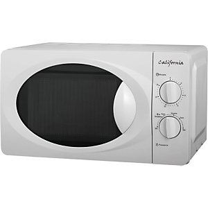 CALIFORNIA Micro-ondes 20 L - 700 W - Blanc