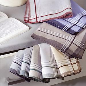 Calitex Mouchoirs en tissu, coloris assortis clair, lot de 12 mouchoirs