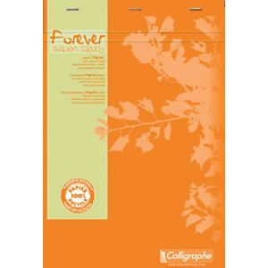 Calligraphe Bloc-notes FOREVER - A4 - agrafé en-tête - 200 pages - 5x5 - papier 70 g recyclé - 21 x 29,7 cm