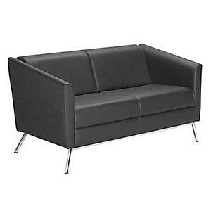 Canapé accueil Lodge - Simili cuir - Noir