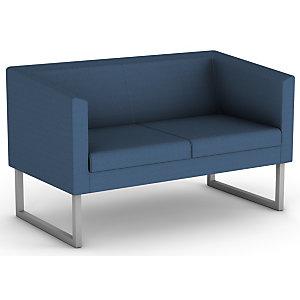 Canapé accueil Sten, 2 places -Tissu bleu