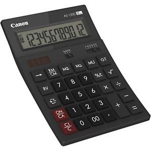Canon AS1200HB, Bureau, Calculatrice basique, 12 chiffres, Batterie/Solaire, Gris 4599B001